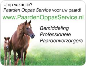 Met vakantie? Paarden Oppas Service voor je paard!